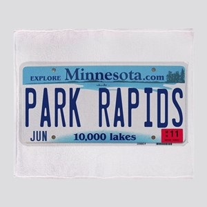 Park Rapids License Plate Throw Blanket