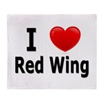 I Love Red Wing Throw Blanket