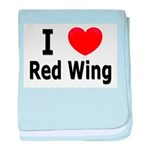 I Love Red Wing baby blanket
