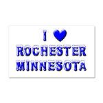 I Love Rochester Car Magnet 20 x 12