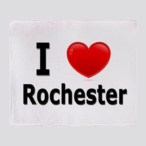 I Love Rochester Throw Blanket