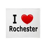 I Love Rochester Throw Blanket