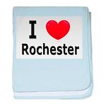 I Love Rochester baby blanket