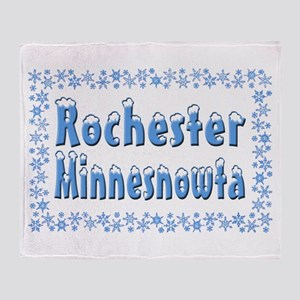 Rochester Minnesnowta Throw Blanket