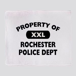 Property of Rochester Police Throw Blanket