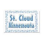 St. Cloud Minnesnowta Car Magnet 20 x 12