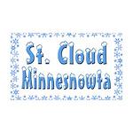 St. Cloud Minnesnowta 38.5 x 24.5 Wall Peel