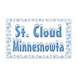 St. Cloud Minnesnowta 22x14 Wall Peel