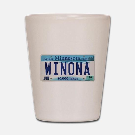 Winona License Plate Shot Glass