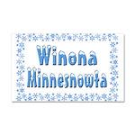 Winona Minnesnowta Car Magnet 20 x 12