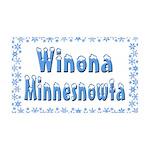Winona Minnesnowta 38.5 x 24.5 Wall Peel