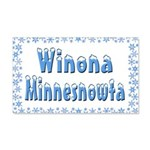 Winona Minnesnowta 22x14 Wall Peel
