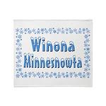 Winona Minnesnowta Throw Blanket