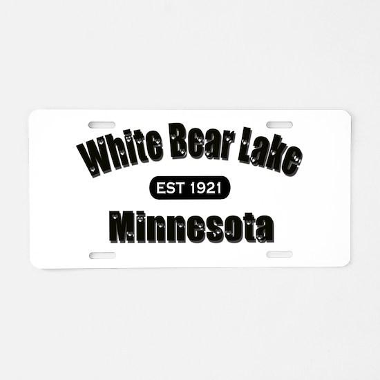 White Bear Lake Est 1921 Aluminum License Plate