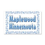 Maplewood Minnesnowta Car Magnet 20 x 12