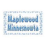 Maplewood Minnesnowta 38.5 x 24.5 Wall Peel