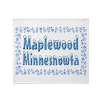 Maplewood Minnesnowta Throw Blanket