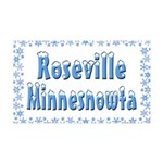 Roseville Minnesnowta 38.5 x 24.5 Wall Peel