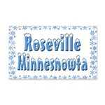 Roseville Minnesnowta 22x14 Wall Peel