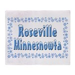 Roseville Minnesnowta Throw Blanket