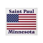 I Love Saint Paul Throw Blanket