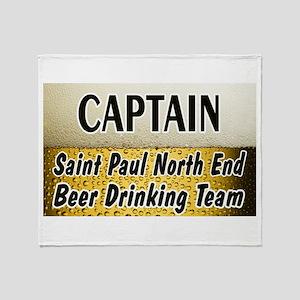 Beer Drinking Team Throw Blanket
