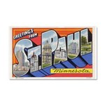 Greetings from St. Paul Car Magnet 20 x 12