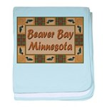 Beaver Bay Minnesota Loon baby blanket