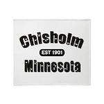 Chisholm Established 1901 Throw Blanket
