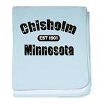 Chisholm Established 1901 baby blanket