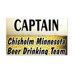 Chisholm Beer Drinking Team 22x14 Wall Peel