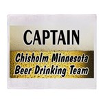 Chisholm Beer Drinking Team Throw Blanket