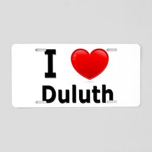 I Love Duluth Aluminum License Plate