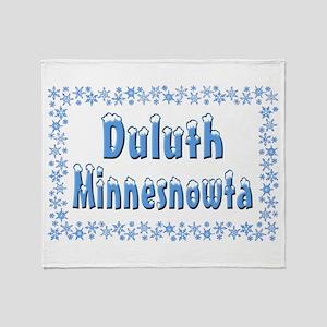 Duluth Minnesnowta Throw Blanket