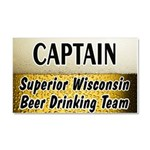 Duluth Beer Drinking Team Car Magnet 20 x 12