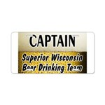 Duluth Beer Drinking Team Aluminum License Plate
