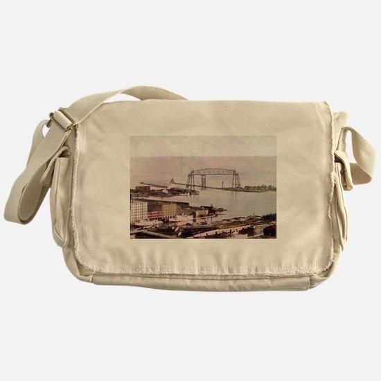 1905 Duluth Harbor and Aerial Messenger Bag