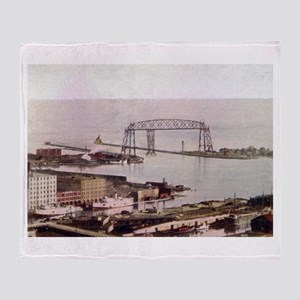1905 Duluth Harbor and Aerial Throw Blanket