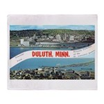 Greetings from Duluth Throw Blanket