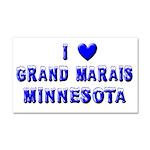 I Love Grand Marais Car Magnet 20 x 12