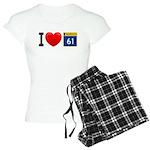 I Love Grand Marais Women's Light Pajamas