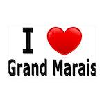 I Love Grand Marais 38.5 x 24.5 Wall Peel