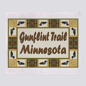 Gunflint Trail Loon Throw Blanket