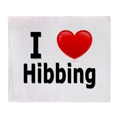 I Love Hibbing Throw Blanket