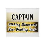 Hibbing Beer Drinking Team Throw Blanket