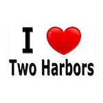 I Love Two Harbors 38.5 x 24.5 Wall Peel