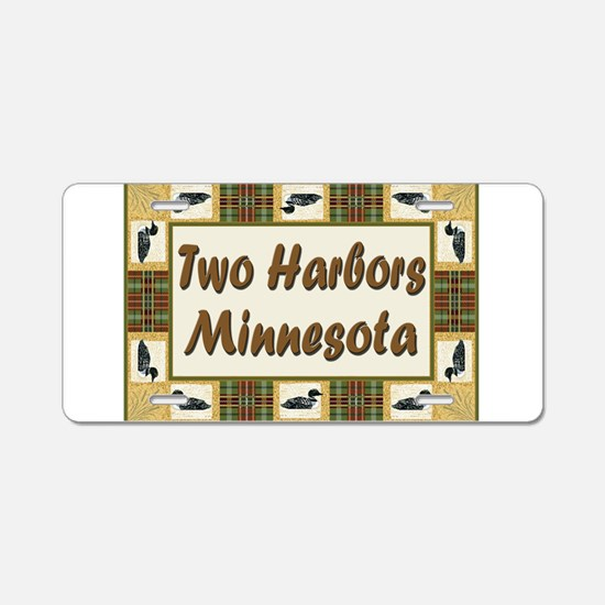 Two Harbors Loon Aluminum License Plate