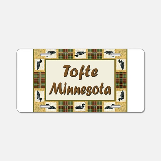 Tofte Loon Aluminum License Plate