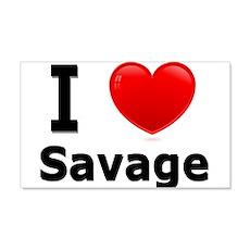 I Love Savage 22x14 Wall Peel