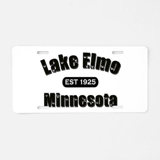 I Love Lake Elmo Aluminum License Plate